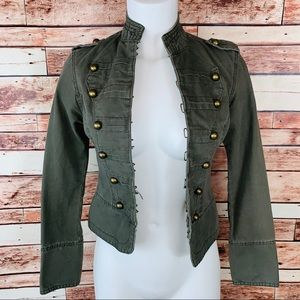 ~Aeropostale~ Army Green Jean Jacket Size Small.